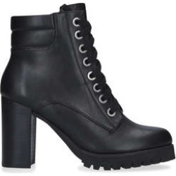 Carvela Safari - Black Lace Up Chunky Block Heel Ankle Boots found on Bargain Bro UK from Kurt Geiger UK