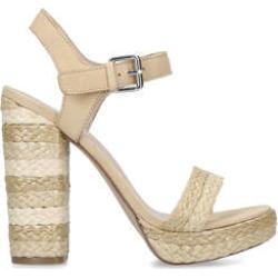 Aldo Huglag - Cream Platform Heeled Sandals found on MODAPINS from Kurt Geiger UK for USD $55.40