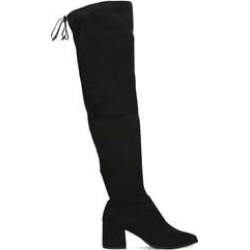 Carvela Wild - Black Block Heel Over The Knee Boots found on MODAPINS from Kurt Geiger UK for USD $99.47