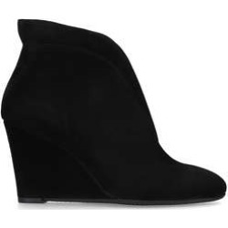 Carvela Comfort Rally - Black Suede Wedge Ankle Boots found on MODAPINS from Kurt Geiger UK for USD $138.86