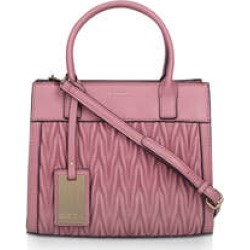 Womens Carvela Mini Megan Rouche Tote, Pink found on Bargain Bro UK from Shoeaholics