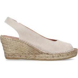 Womens Carvela Comfort Sharontaupe Suede Espadrille Wedge Sandals, 5 UK found on Bargain Bro UK from Shoeaholics