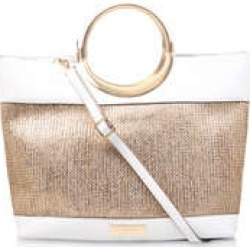 Carvela Rosie Metal Handle Bag - Gold Metallic Tote Bag found on Bargain Bro UK from Kurt Geiger UK