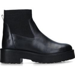 KG Kurt Geiger Tyson - Black Leather Chunky Sock Boot found on Bargain Bro UK from Kurt Geiger UK