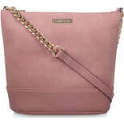 Carvela Rich Zip Chain Bucket Bag - Pink Bucket Bag found on MODAPINS from Kurt Geiger UK for USD $68.86