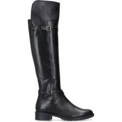 Carvela Comfort Viv - Black Leather High Leg Boots found on Bargain Bro UK from Kurt Geiger UK