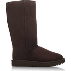 Ugg Tall Choc Ii - Brown Suede Sheepskin Calf Boots found on Bargain Bro UK from Kurt Geiger UK