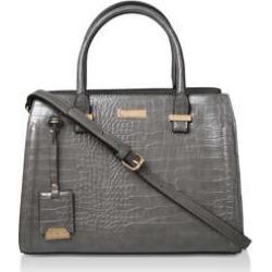 Womens Holly Croc Zip Bag Handbags Carvela Grey Shoulder Tote found on Bargain Bro UK from Shoeaholics