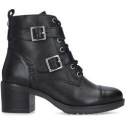 Carvela Stacey - Black Block Heel Biker Boots found on Bargain Bro UK from Kurt Geiger UK