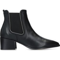 Womens Carvela Spireblack Leather Block Heel Ankle Boots, 6 UK found on Bargain Bro UK from Shoeaholics