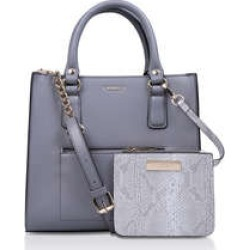 Womens Simba Pocket Purse Tote Handbags Carvela Grey Synthetic found on Bargain Bro UK from Shoeaholics