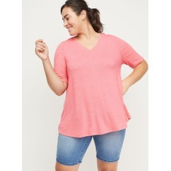 Lane Bryant Women's Softest Touch Swing Top 22/24 Cabo Coral