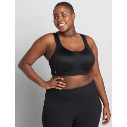 Lane Bryant Women's Livi Active High-Impact Wicking Underwire Sport Bra 42D Black found on Bargain Bro India from Lane Bryant for $49.95