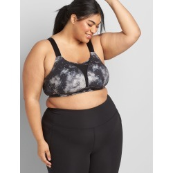 Lane Bryant Women's Livi Medium-Impact No-Wire Sport Bra With Wicking 42C Galactic Texture Grey found on Bargain Bro India from Lane Bryant for $59.95