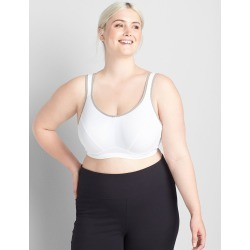 Lane Bryant Women's Livi Active High-Impact Wicking Underwire Sport Bra 36C White found on Bargain Bro India from Lane Bryant for $49.95