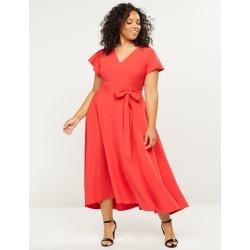 Lane Bryant Women's Lena Dress 18 Poinsettia
