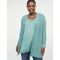 Lane Bryant Women's Ribbed Sweater Overpiece 26/28 River Mist