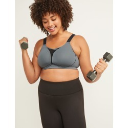 Lane Bryant Women's Livi Active Medium-Impact Cooling No-Wire Sport Bra 40D Turbulence found on Bargain Bro India from Lane Bryant for $59.95