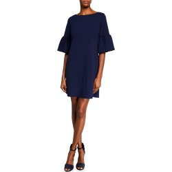 Angel-Sleeve Crepe Shift Dress found on MODAPINS from Lastcall.com for USD $75.00