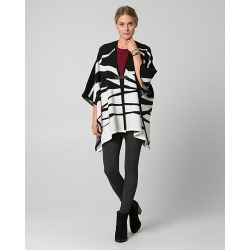 Le Chateau Womens - Zebra Print Viscose Blend Buckle Poncho Top in Black/Off White Polyester/Nylon/Viscose found on Bargain Bro India from Le Chateau Stores for $59.99