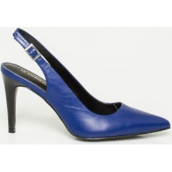 Le Chateau Womens - Leather Pointy Toe Slingback Shoes in Blue Size 11