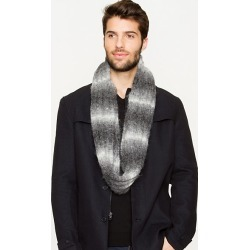 Le Chateau Mens - Rib Knit Ombré Scarf in Dark Grey Polyester/Nylon found on Bargain Bro India from Le Chateau Stores for $19.99
