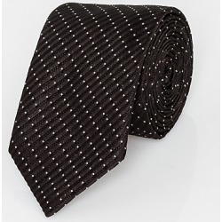Le Chateau Mens - Italian-Made Micro Dot Print Silk Tie in Black/White found on Bargain Bro India from Le Chateau Stores for $49.99