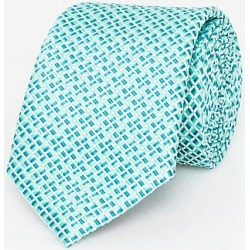 Le Chateau Mens - Geo Print Microfibre Skinny Tie in Mint Polyester found on Bargain Bro India from Le Chateau Stores for $19.99