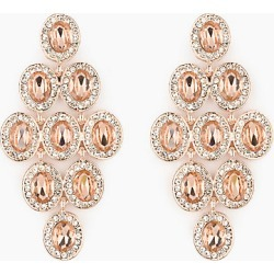 Le Chateau Womens - Gem Chandelier Earrings in Blush found on Bargain Bro India from Le Chateau Stores for $14.99