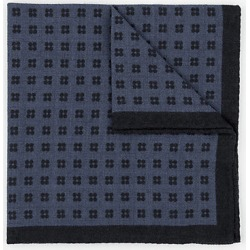 Le Chateau Mens - Italian-Made Wool Pocket Square in Blue found on Bargain Bro India from Le Chateau Stores for $29.99