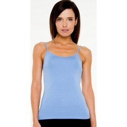 Le Chateau Womens - Essential Knit Camisole Top in Soft Blue Size Large Polyester