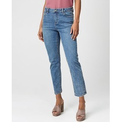 Le Chateau Womens - Stretch Denim Regular Rise Straight Pant in Vintage Light Blue Size 00 Cotton found on Bargain Bro Philippines from Le Chateau Stores for $39.99