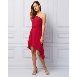Le Chateau Womens - Chiffon One Shoulder Dress in Raspberry Size 2XL Polyester found on Bargain Bro Philippines from Le Chateau Stores for $99.99