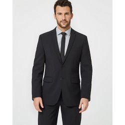 Le Chateau Mens - Tropical Wool Contemporary Fit Blazer Jacket in Black Size 42 Polyester/Wool found on Bargain Bro Philippines from Le Chateau Stores for $210.00