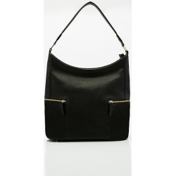Le Chateau Womens - Pebble Faux Leather Hobo Bag in Black Synthetic/Leather found on Bargain Bro India from Le Chateau Stores for $39.99