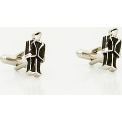 Le Chateau Mens - Groom Icon Cufflink in Black/Silver Metal found on Bargain Bro India from Le Chateau Stores for $19.99