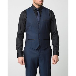 Le Chateau Mens - Woven Contemporary Fit Vest in Blue Size Medium Polyester/Viscose found on Bargain Bro India from Le Chateau Stores for $49.99