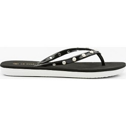 Le Chateau Womens - Pearl Embellished Jelly Flip Flop Sandal in Black Size 40 Plastic found on Bargain Bro Philippines from Le Chateau Stores for $9.99