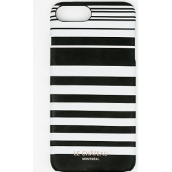 Le Chateau Womens - Stripe Case for iPhone 6/6s Plus in Black/White/Blue found on Bargain Bro India from Le Chateau Stores for $4.99