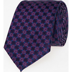 Le Chateau Mens - Floral Print Silk Skinny Tie in Plum found on Bargain Bro India from Le Chateau Stores for $29.99
