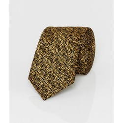 Le Chateau Mens - Novelty Print Metallic Knit Skinny Tie in Black/Gold Polyester found on Bargain Bro India from Le Chateau Stores for $29.99