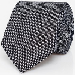 Le Chateau Mens - Textured Silk Piqué Skinny Tie in Black/White found on Bargain Bro India from Le Chateau Stores for $29.99