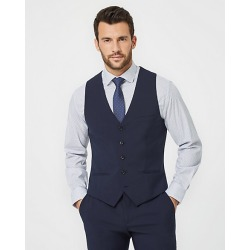 Le Chateau Mens - Tropical Wool City Fit Vest in Navy Size Medium Polyester/Wool found on Bargain Bro Philippines from Le Chateau Stores for $95.00