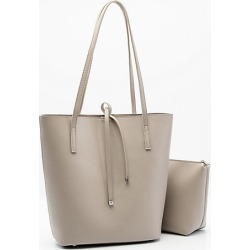 Le Chateau Womens - Faux Leather Tote Bag in Stone Synthetic/Leather found on Bargain Bro India from Le Chateau Stores for $49.99