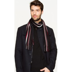 Le Chateau Mens - Stripe Scarf in Black/Charcoal found on Bargain Bro India from Le Chateau Stores for $19.99