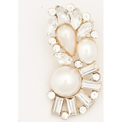 Le Chateau Womens - Pearl-Like & Gem Ear Cuff in Clear/Gold Plastic/Glass found on Bargain Bro India from Le Chateau Stores for $9.99
