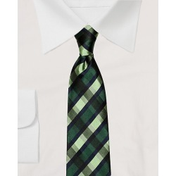 Le Chateau Mens - Check Print Silk Tie in Green/Blue found on Bargain Bro India from Le Chateau Stores for $29.99