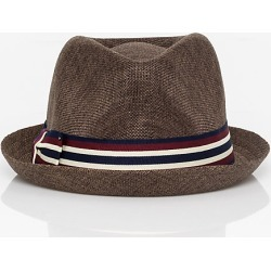 Le Chateau Mens - Woven Fedora Hat in Brown Size Small Polyester found on Bargain Bro India from Le Chateau Stores for $14.99