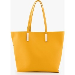 Le Chateau Womens - 3-in-1 Pebbled Leather-Like Tote Bag in Mustard Synthetic/Leather found on Bargain Bro India from Le Chateau Stores for $69.95