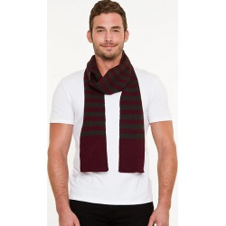 Le Chateau Mens - Stripe Scarf in Wine found on Bargain Bro India from Le Chateau Stores for $9.99